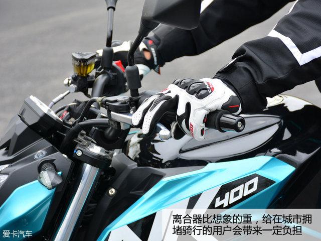1号种子选手 爱卡试驾春风400nk摩托车